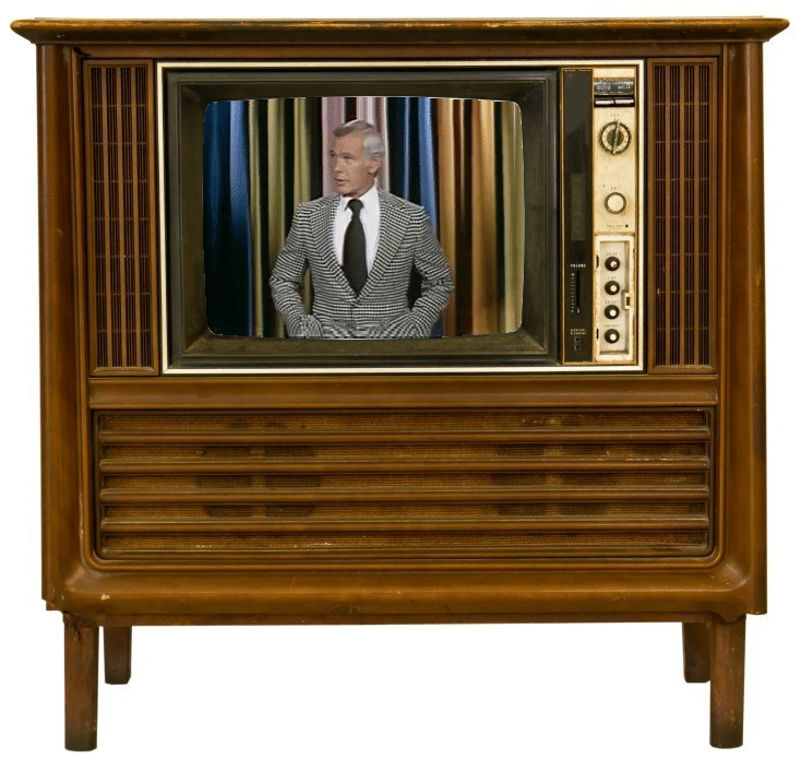 Old TV with Johnny Carson