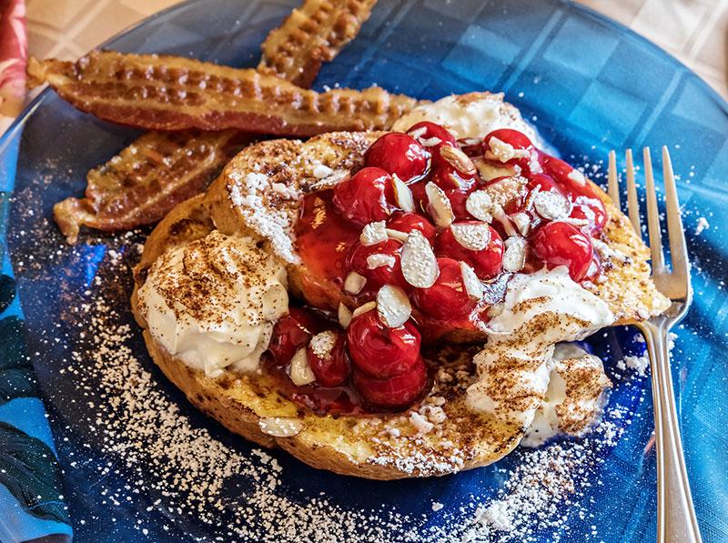 Breakfast - Cherry Almond French Toast