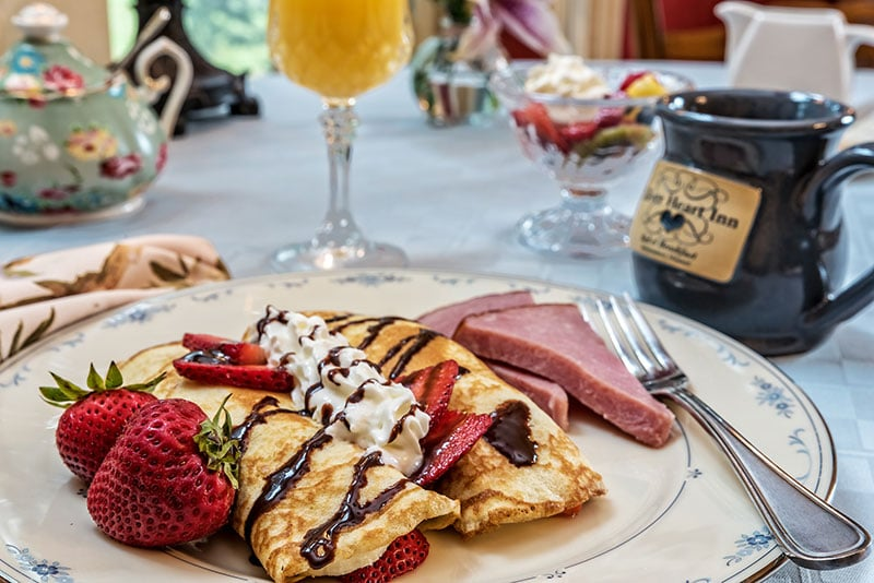 Breakfast - Crepes and Ham