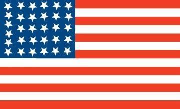 1850s U.S. flag with 31 stars