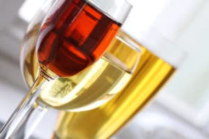Close up of wine and beer to enjoy at local breweries and wineries